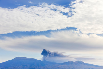 Volcano eruption in Japan