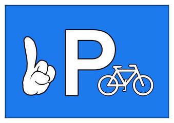 Schild - Fahrräder - Fahrrad