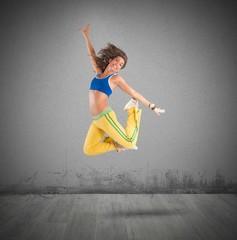 Dancer jumps