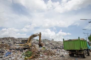 big garbage heap