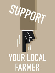 Words SUPPORT YOUR LOCAL FARMER