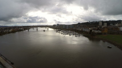 Portland Aerial Hawthorne Bridge