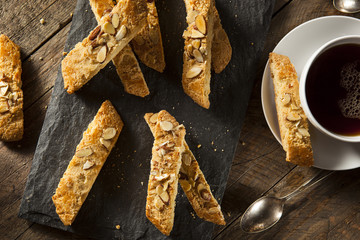 Homemade Almond Biscotti Pastry