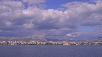 Yacht sailing Split coastal watters