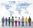 Global Business People Togetherness Rear View Growth Concept