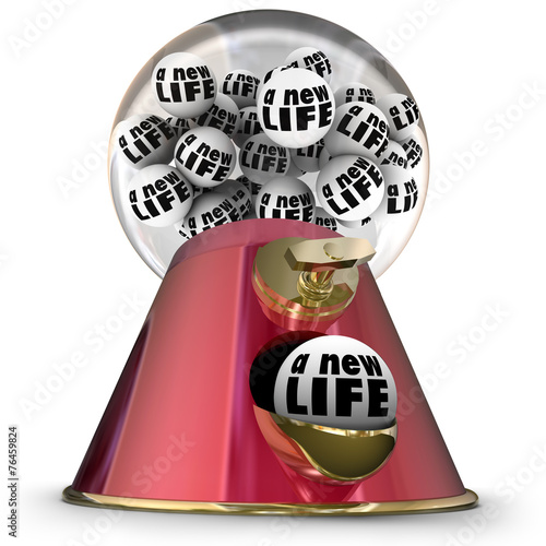 canvas print picture A New Life Gumball Machine Start Over Begin Again Fresh Opportun