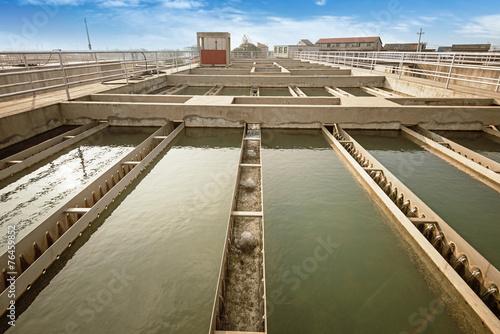 Modern urban wastewater treatment plant. - 76459852