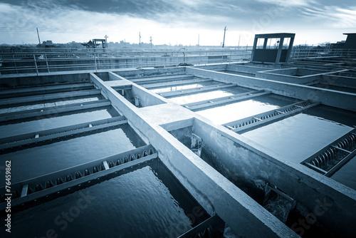 Modern urban wastewater treatment plant. - 76459862