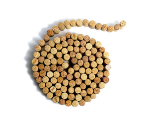 spiral from wine corks