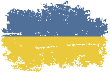 Ukrainian grunge flag. Vector illustration.