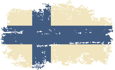 Finnish grunge flag. Vector illustration.