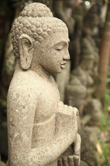 Side of Buddha Statue Doing Meditation