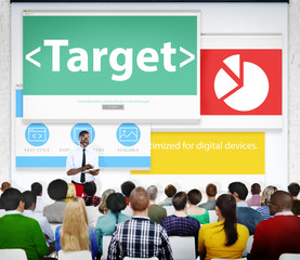 Target Market Business Meeting Seminar Conference Concept