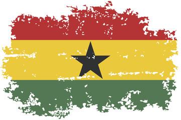 Ghanaian grunge flag. Vector illustration.