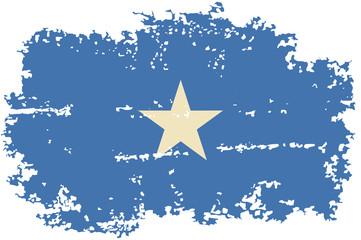 Somalia grunge flag. Vector illustration.