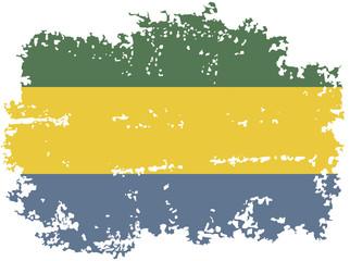Gabon grunge flag. Vector illustration.