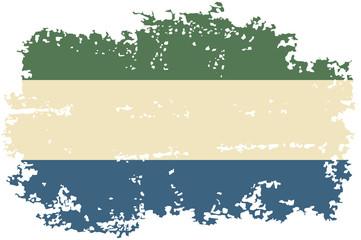 Sierra Leone grunge flag. Vector illustration.