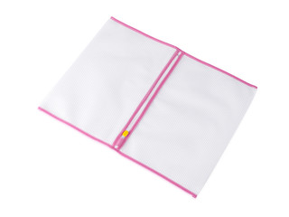 white mesh laundry bag