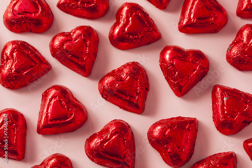 Chocolate Candy Heart Sweets - 76460841