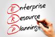 Enterprise resource planning (ERP), business concept acronym