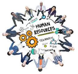 Human Resources Employment Teamwork Business Support Concept
