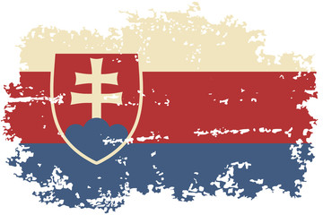 Slovakia grunge flag. Vector illustration.