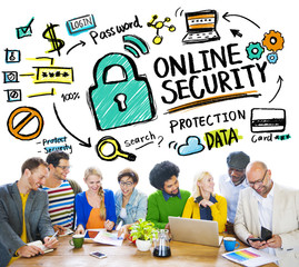 Online Security Protection Internet Safety People Meeting Concep