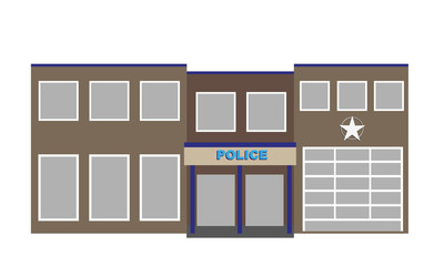 vector police department building.headquarter of sheriff