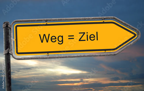canvas print picture Strassenschild 19 - Weg = Ziel