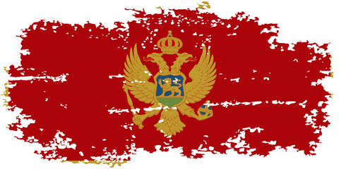 Montenegro grunge flag. Vector illustration.