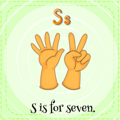 A letter S for seven