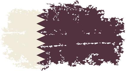 Qatari grunge flag. Vector illustration.