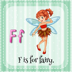 A letter F for fairy