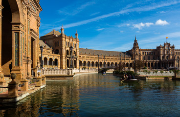 View of Plaza de Espana. Seville, Spain