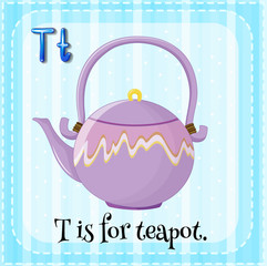 A letter T for teapot