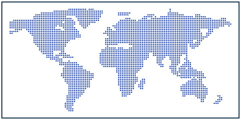 World map made of dots