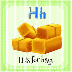 A letter H for hay