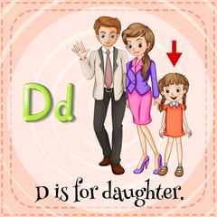 A letter D