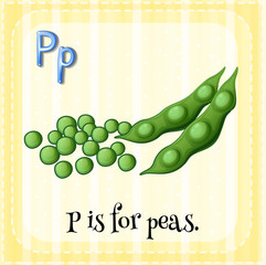 A letter P for peas