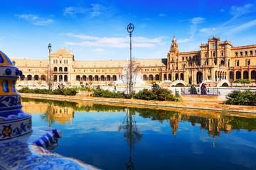 Day view of Plaza de Espana