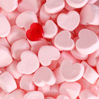 Marshmallows and Red Heart. Background