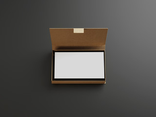 White business cards in the craft box