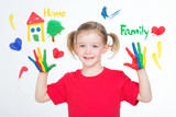 Pictures of the essentials values for one little child poster