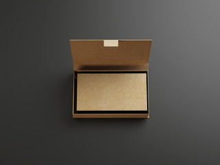 Cardboarding business cards in the box