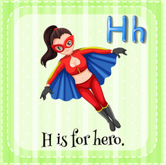 A letter H for hero