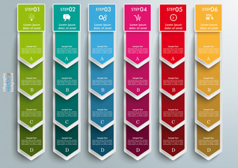 6 Step Arrows Oblong Banners