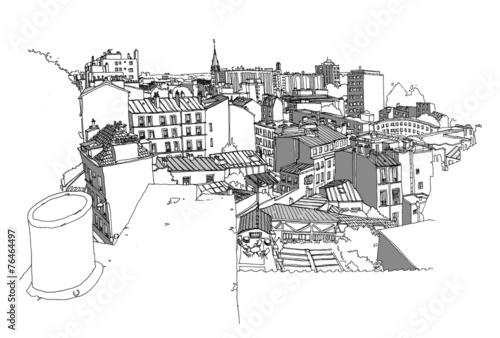 Paysage de Paris vu de haut