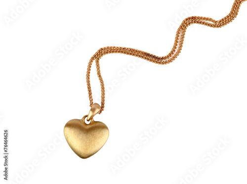 Golden heart pendant - 76464626