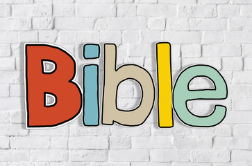Bible Concepts Isolated  Background Pray Concept