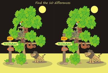 ZOO,find ten differences